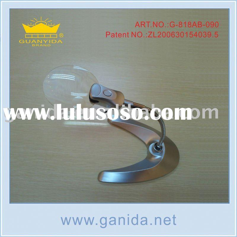 wider view rimless magnifying lamp stand with 2 led light