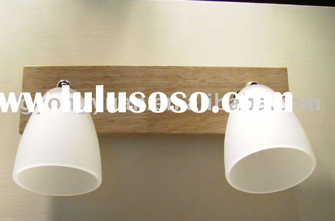 wood wall lamp
