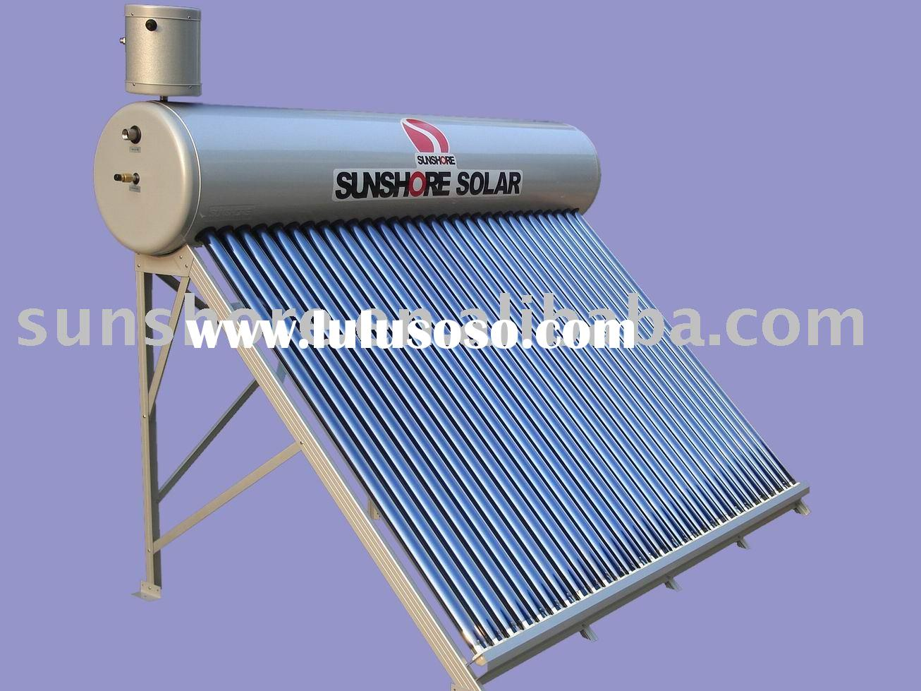 Sunshore solar water heater- High quality with competitive price.
