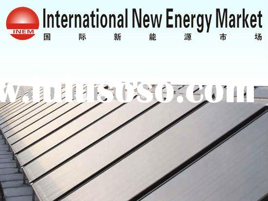 flat plate solar water heater project