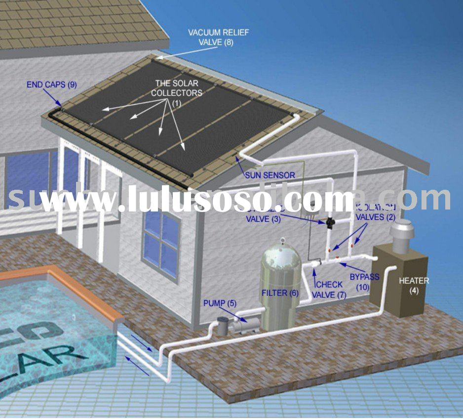 solar water heater swimming pool system