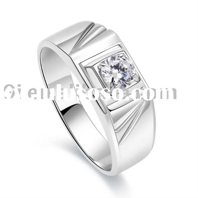 Best selling 925 sterling silver single stone ring with zircon