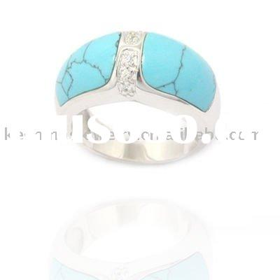 Fashion 925 silver Turquoise Ring Jewelry