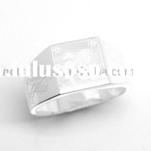 Fashion personalized name ring