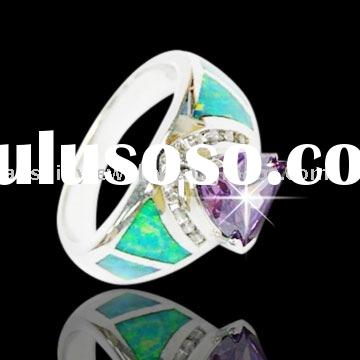 Hight Quality and Wholesale Opal Ring  Fashion 925 Sterlign Silver Jewelry