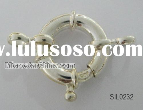 Sterling silver spring ring clasp