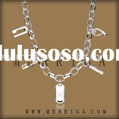 Supply 925 sterling silver necklace fashion jewellery with low MOQ