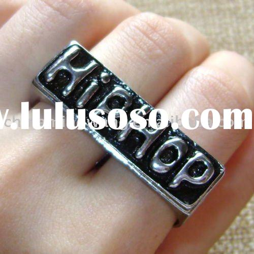 Vintage 2 Fingers HIP HOP silver knuckle fashion ring