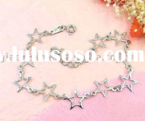 Wholesale Silver Jewelry Charming 925 Sterling Silver Bracelet Accept paypal