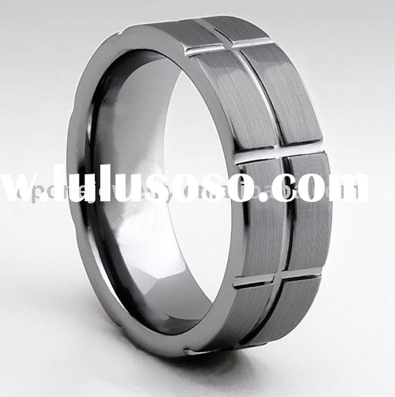 wedding tungsten ringbrushed mens wedding ring tungsten his and her