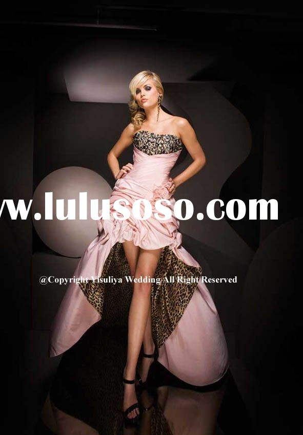 2010 Hot Sell Short-Long Leopard  Printed Prom Dress