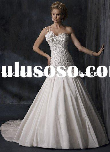 2010 new style wholesale mermaid dress one shoulder wedding dress/wedding gown  WDS82702