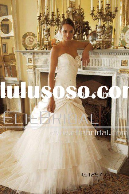 2011 New Design Custom Made Beautiful Wedding Dress