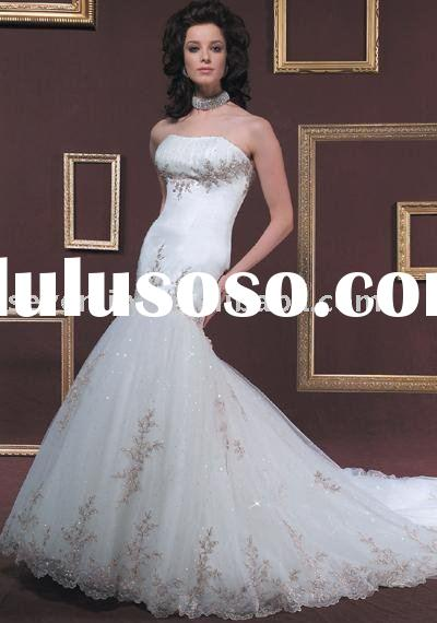2011 New Popular Cheap Classic Backless Mermaid Style Wedding Dresses