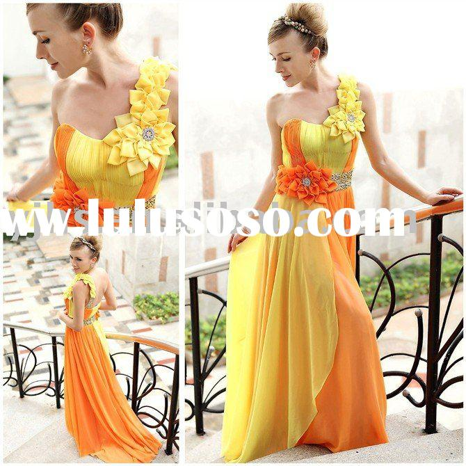 2011 New Style Colors Chiffon Evening Prom Gown