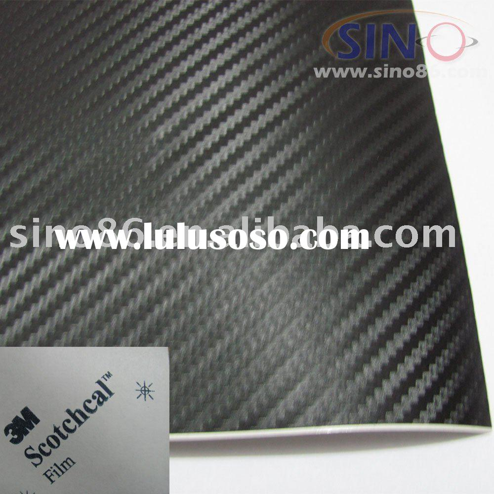 3M 3D air free carbon fiber vinyl film sticker for car decoration,auto wrap