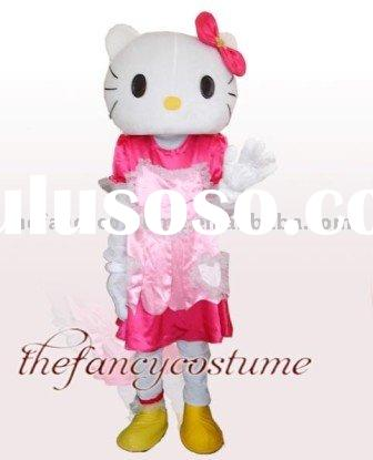 Adult Size Hello Kitty Mascot Costume Hallowmas Christmas Carnival Party Dress