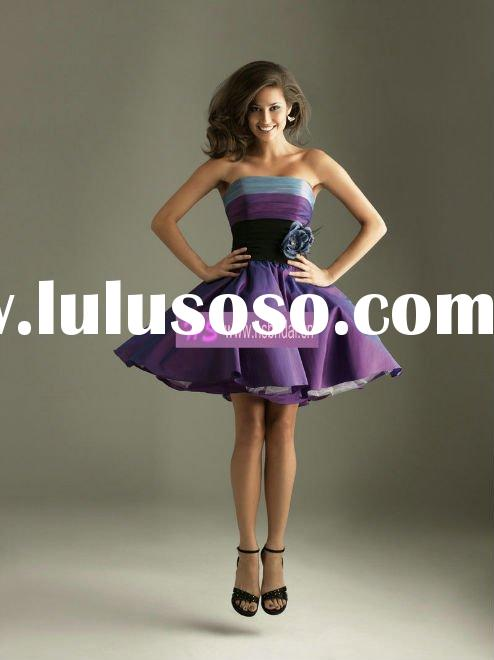 Ball Gown Strapless Taffeta Mini Prom Evening Gowns