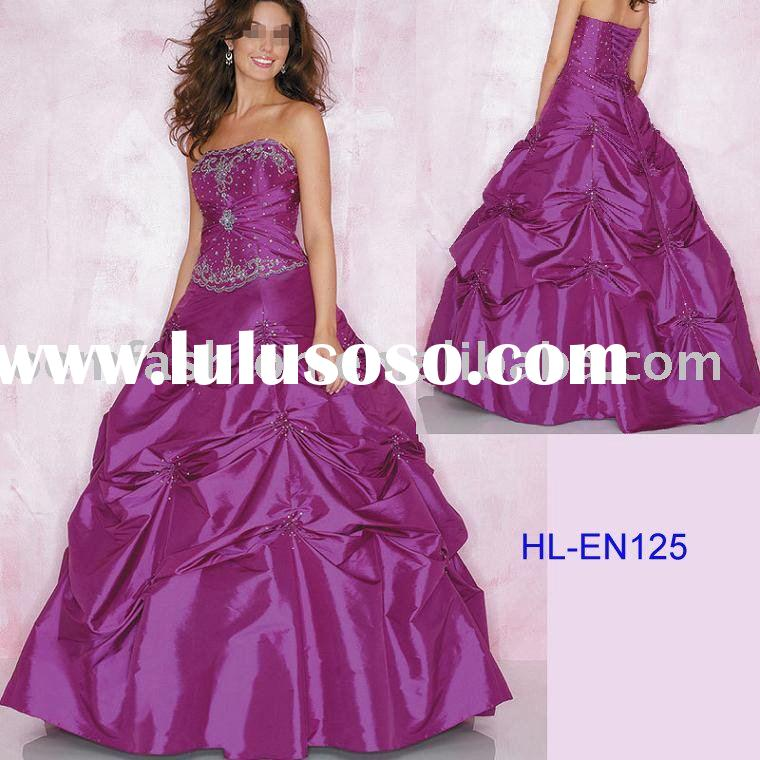 Beautiful designer red prom dress HL-EN125
