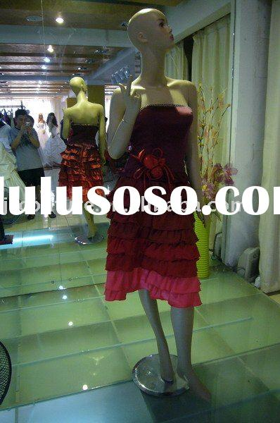 Burgundy Christmas Party Dress