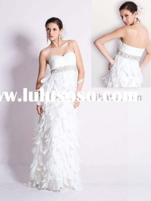 White feather dress white feather dress manufacturers in for White feather wedding dress