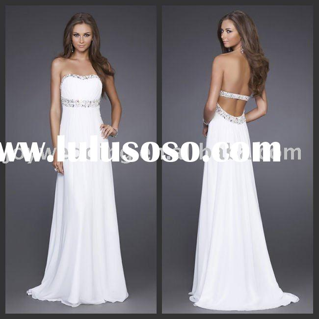 LF0004 Free shipping Popular new Sleek gown La Femme beaded prom evening dress