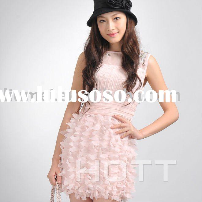 Lady's Pink Fashion Dress