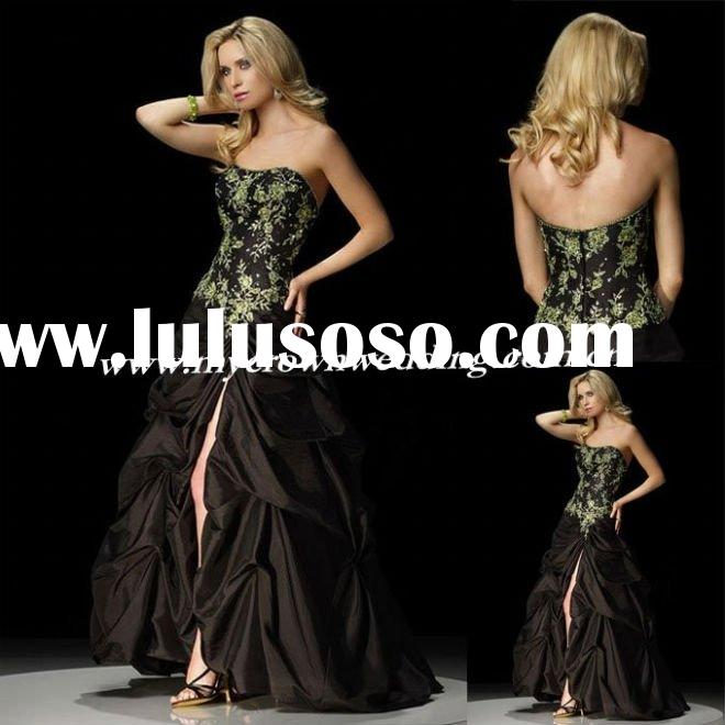 New Arrival! Attractive black Embroidery evening dress prom dress