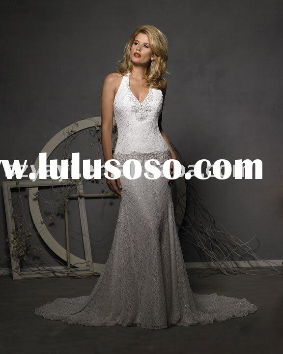 New Wedding Dress Material High quality lace satin