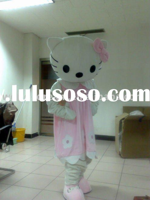 Pink Hello Kitty Costume/ Foam Head Mascot Costume/ Pink Cat Mascot Costume