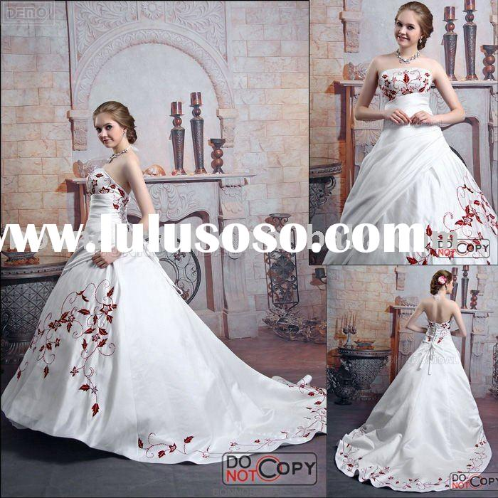 Supply Embroidery Bridal Gown Online bridal dress Designer 6212
