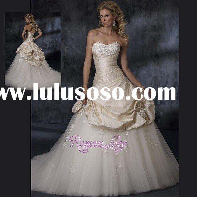 White Pure Petite Formal Junior Ball Gown Wedding Dresses