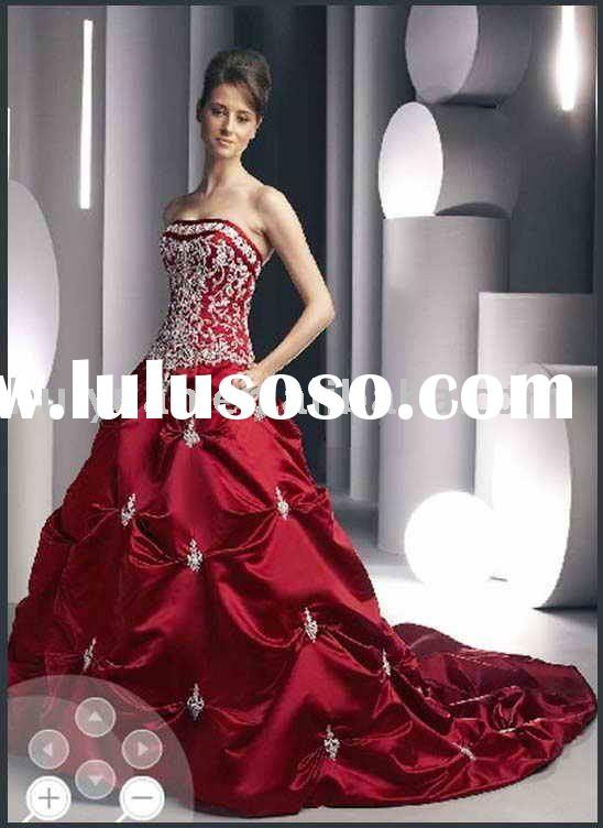 [Super Deal] red wedding dresses 5866