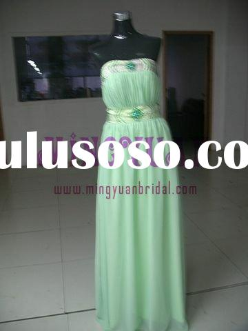 green chiffon real sample prom dresses gowns ee185