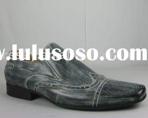latest leather men dress shoes,2011 fashion men dress shoes