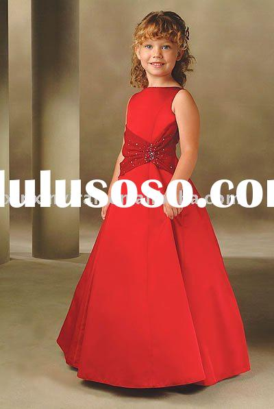 Kids Party Dresses on Red Children S Party Dress  Night Dress Xxk0053