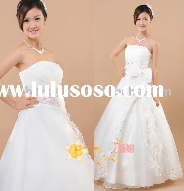 wedding dresses with color trim. Bridal gowns, wedding dresses