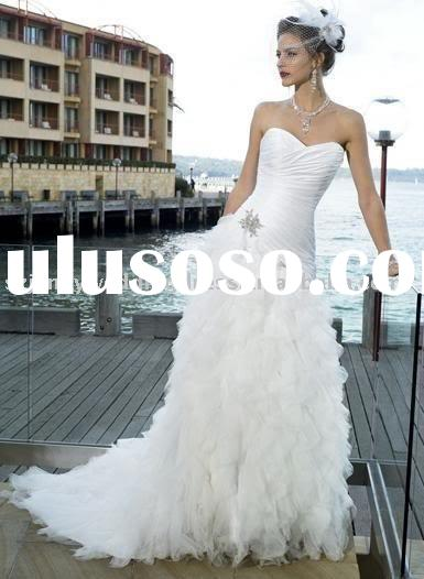 west clothing design strapless tulle wedding dress evening dress free shipping