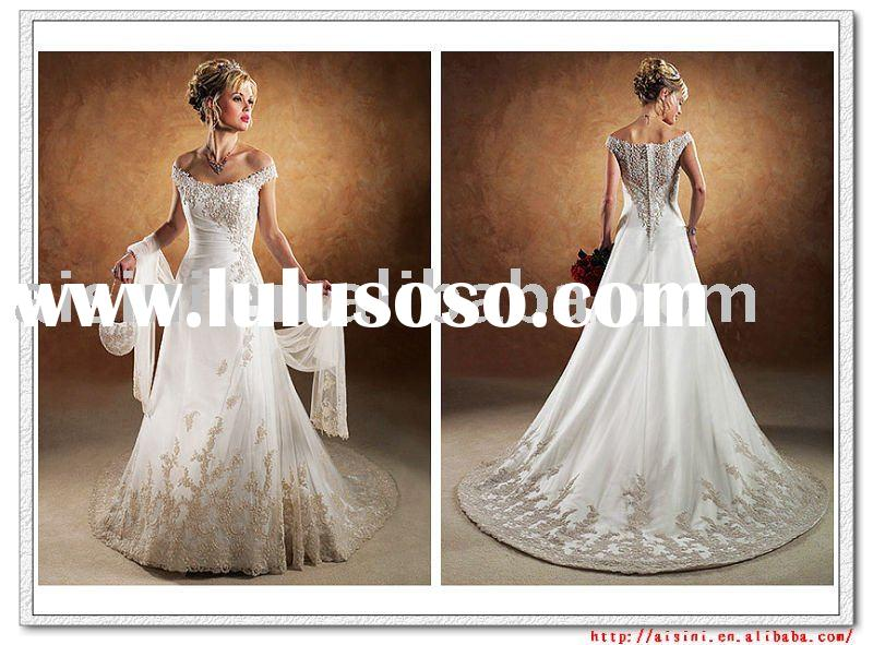 2009, the most popular wedding  dress .WA-0012