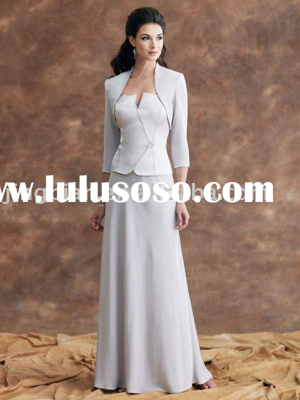 2010 Modern mother of bride dress with bolero jacket BM025