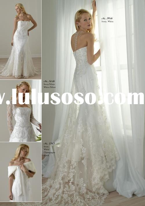 2010 popular ball gown strapless wedding dress