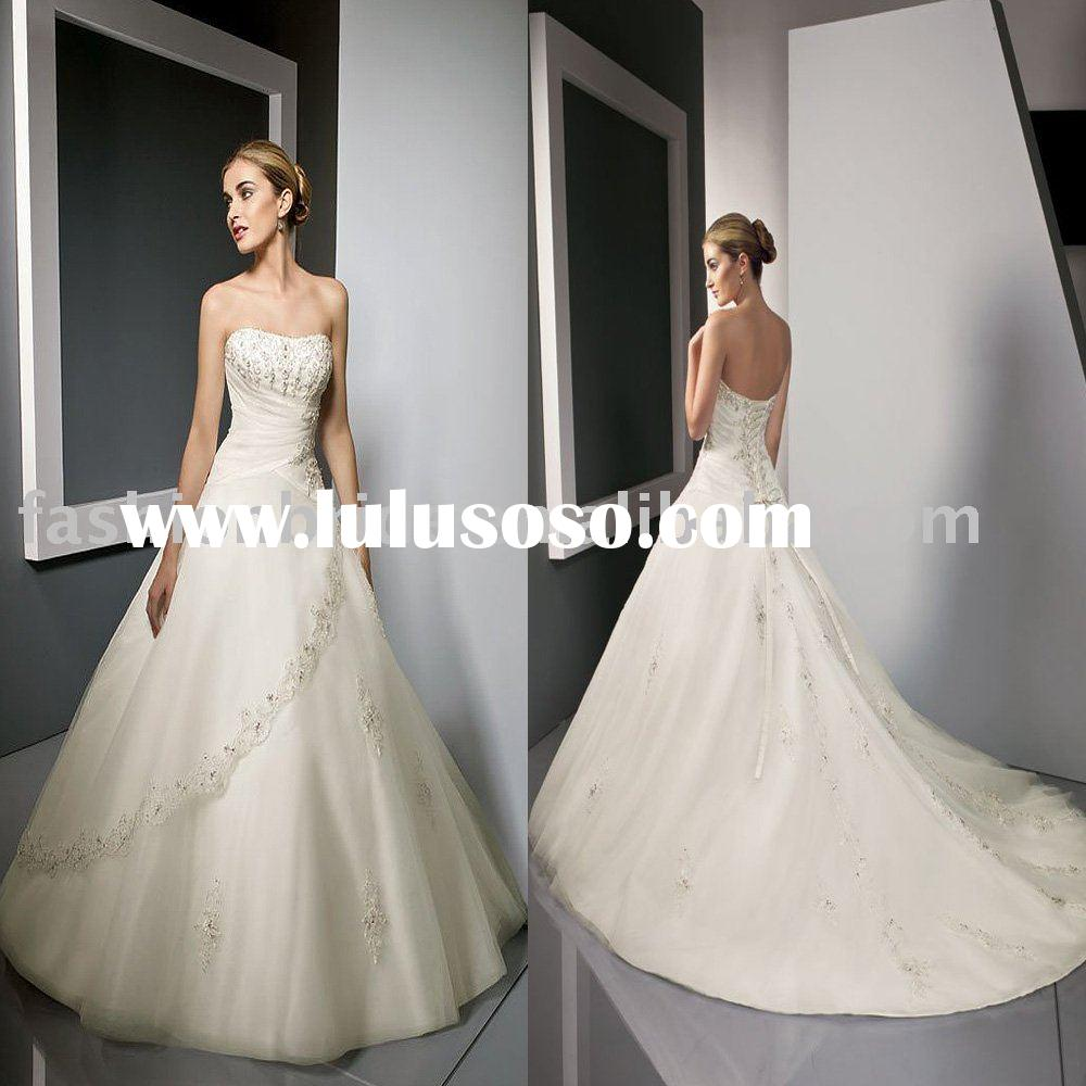 2010 winter new style cheap wedding gown