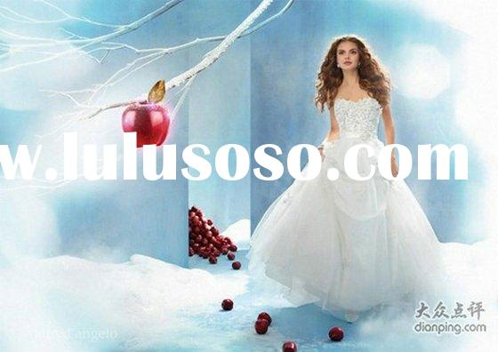 2011 Most beautiful princess Snow white wedding dress PRI-6