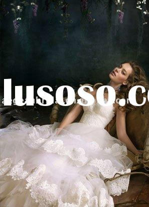 2011 New style sweetheart lace ball gown bridal wedding dress