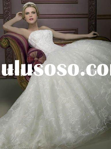 2011 lace ball gown wedding dress W2159
