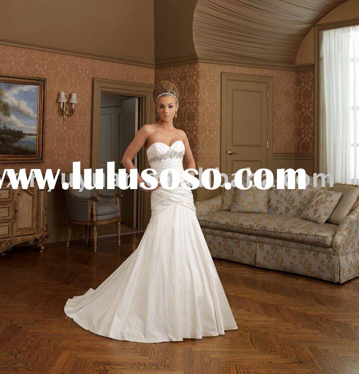 2011 new designer mermaid style boutique wedding dresses STW-025