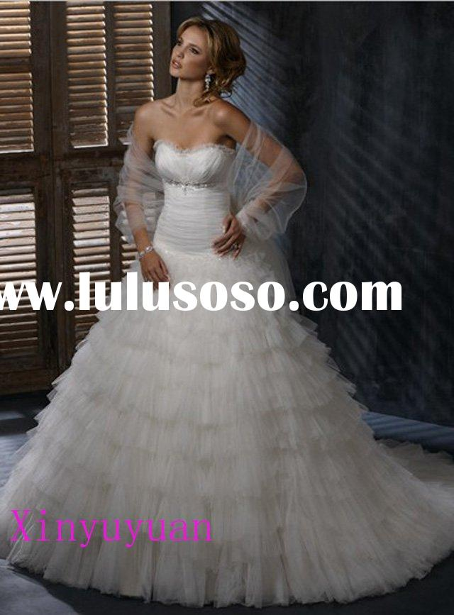 2011 summer elegant couture plus size wedding dresses MWD190