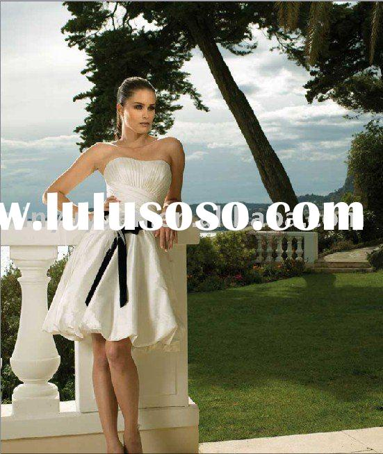 2011 summer outdoor informal short wedding dresses MFW-013