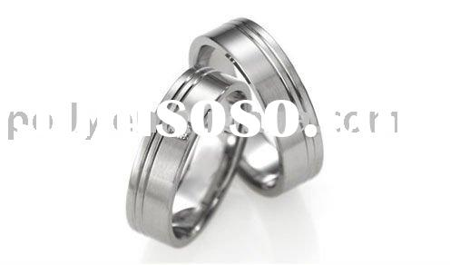 316L stainless steel circle fashion lover's ring