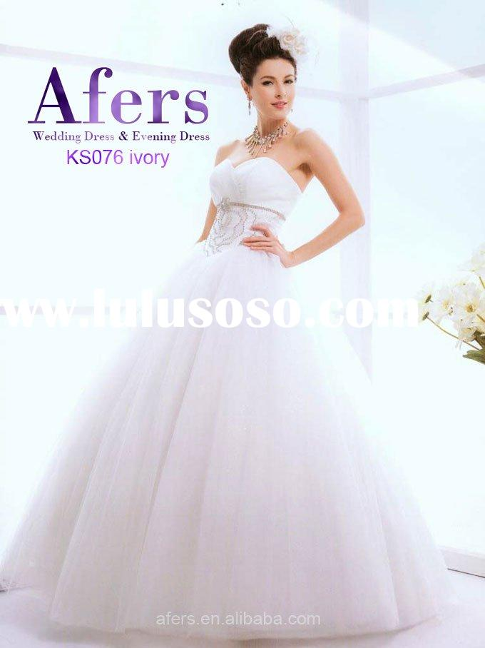 Afers ivory color Ball Gown Wedding Dresses,bridal apparel NO.KS076